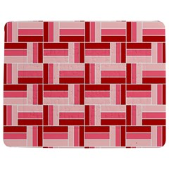 Pink Red Burgundy Pattern Stripes Jigsaw Puzzle Photo Stand (Rectangular)