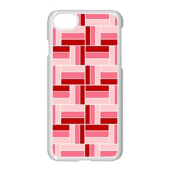 Pink Red Burgundy Pattern Stripes Apple Iphone 7 Seamless Case (white)