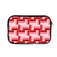Pink Red Burgundy Pattern Stripes Apple Macbook Pro 13  Zipper Case