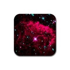 Pistol Star And Nebula Rubber Square Coaster (4 Pack)