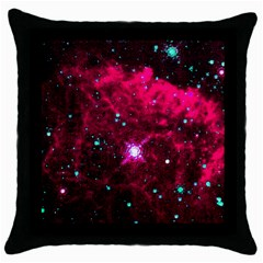 Pistol Star And Nebula Throw Pillow Case (black)
