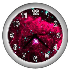 Pistol Star And Nebula Wall Clocks (silver)