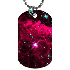 Pistol Star And Nebula Dog Tag (two Sides)