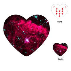 Pistol Star And Nebula Playing Cards (heart)