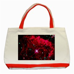 Pistol Star And Nebula Classic Tote Bag (red)