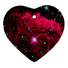 Pistol Star And Nebula Heart Ornament (two Sides)