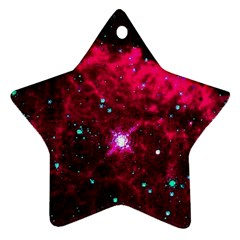 Pistol Star And Nebula Star Ornament (two Sides)