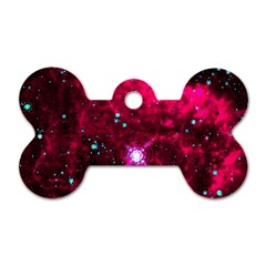 Pistol Star And Nebula Dog Tag Bone (two Sides)