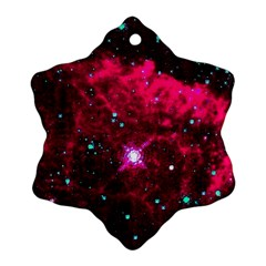 Pistol Star And Nebula Snowflake Ornament (two Sides)
