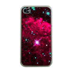 Pistol Star And Nebula Apple Iphone 4 Case (clear)