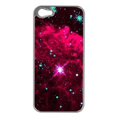Pistol Star And Nebula Apple Iphone 5 Case (silver)