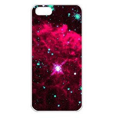 Pistol Star And Nebula Apple Iphone 5 Seamless Case (white)