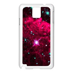 Pistol Star And Nebula Samsung Galaxy Note 3 N9005 Case (white)