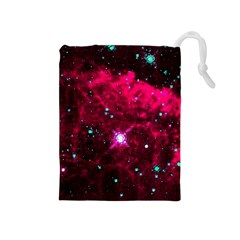Pistol Star And Nebula Drawstring Pouches (medium)