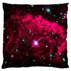 Pistol Star And Nebula Large Flano Cushion Case (two Sides)