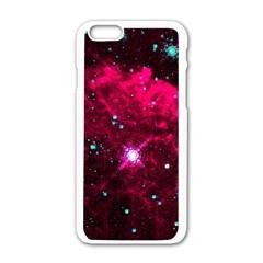 Pistol Star And Nebula Apple Iphone 6/6s White Enamel Case