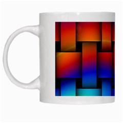 Rainbow Weaving Pattern White Mugs