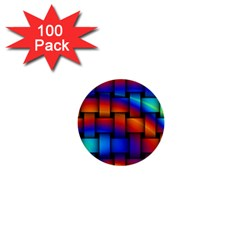 Rainbow Weaving Pattern 1  Mini Buttons (100 Pack)