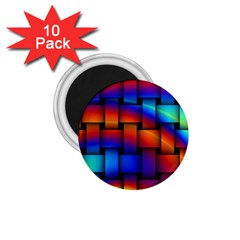 Rainbow Weaving Pattern 1 75  Magnets (10 Pack)