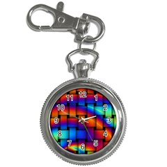 Rainbow Weaving Pattern Key Chain Watches