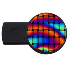 Rainbow Weaving Pattern Usb Flash Drive Round (2 Gb)