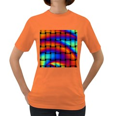 Rainbow Weaving Pattern Women s Dark T Shirt