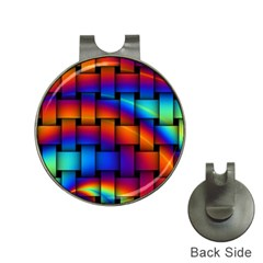 Rainbow Weaving Pattern Hat Clips with Golf Markers