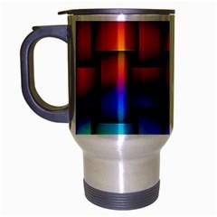 Rainbow Weaving Pattern Travel Mug (silver Gray)