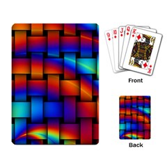 Rainbow Weaving Pattern Playing Card