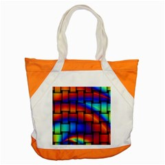 Rainbow Weaving Pattern Accent Tote Bag
