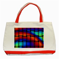 Rainbow Weaving Pattern Classic Tote Bag (red)