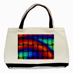 Rainbow Weaving Pattern Basic Tote Bag (two Sides)