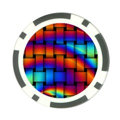 Rainbow Weaving Pattern Poker Chip Card Guard (10 Pack)