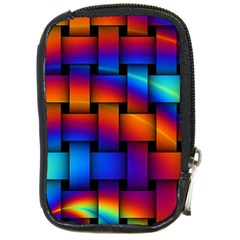 Rainbow Weaving Pattern Compact Camera Cases
