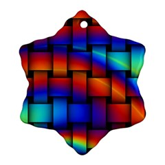 Rainbow Weaving Pattern Ornament (snowflake)