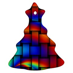 Rainbow Weaving Pattern Christmas Tree Ornament (two Sides)