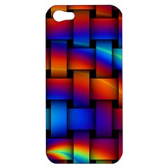 Rainbow Weaving Pattern Apple Iphone 5 Hardshell Case