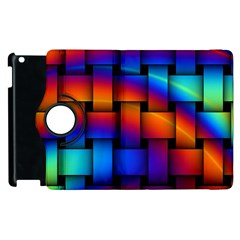 Rainbow Weaving Pattern Apple Ipad 2 Flip 360 Case