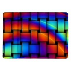Rainbow Weaving Pattern Samsung Galaxy Tab 10 1  P7500 Flip Case
