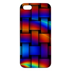 Rainbow Weaving Pattern Iphone 5s/ Se Premium Hardshell Case