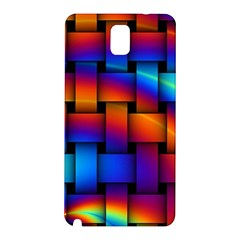 Rainbow Weaving Pattern Samsung Galaxy Note 3 N9005 Hardshell Back Case