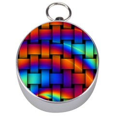 Rainbow Weaving Pattern Silver Compasses