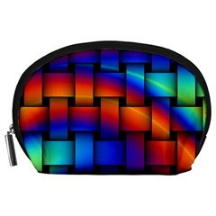 Rainbow Weaving Pattern Accessory Pouches (large)