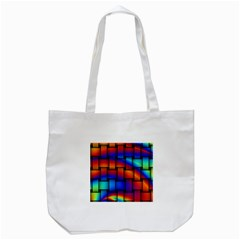 Rainbow Weaving Pattern Tote Bag (white)