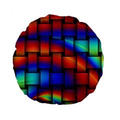 Rainbow Weaving Pattern Standard 15  Premium Flano Round Cushions