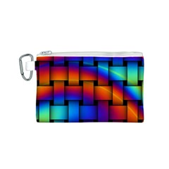 Rainbow Weaving Pattern Canvas Cosmetic Bag (s)