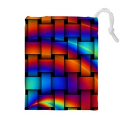 Rainbow Weaving Pattern Drawstring Pouches (extra Large)