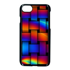 Rainbow Weaving Pattern Apple Iphone 7 Seamless Case (black)
