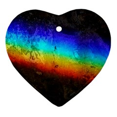 Rainbow Color Prism Colors Ornament (heart)