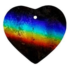 Rainbow Color Prism Colors Ornament (Heart)